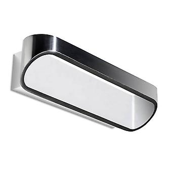 LED 1 Light Up & Down Wall Light White, Brushed Aluminium