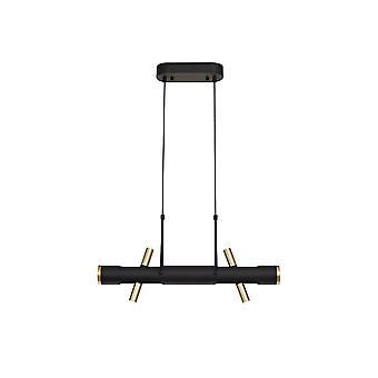 Luminosa Lighting - Wisiorek sufitowy, 4 x 2W LED, 3000K, 1120lm, Sand Black, Gold