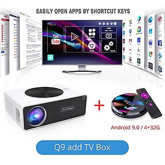 Q9 Home Cinema Lcd Video Projector Full Hd 6800 Lumens ( Android 9.0 Wifi Bluetooth Optional ) Led Movie Beamer