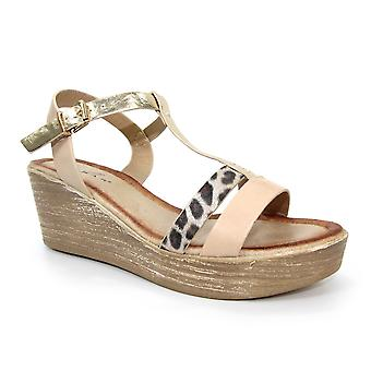 Lunar Kempton Leopard Wedge sandal