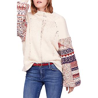 Free People | Mixed-Material Knit Sweater