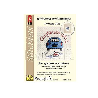Passed Driving Test Stitchlets Counted Cross Stitch Card Making Kit