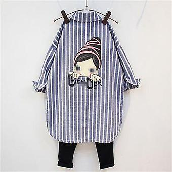 Girls Shirts With Stripes, And Long Blouse