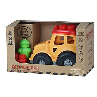 Enviro Plastic Jeep with 9pc Blocks