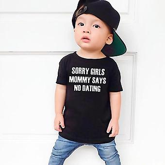 Kids Boy T shirt brev trykt kort ærme casual tees Top