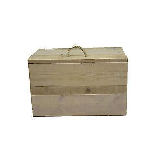 Wood4you - Spielzeugkiste mit Seilgriff Gerüst 80Lx50Hx50D cm