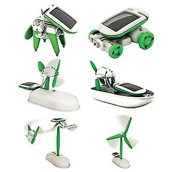 6 In 1 auton aurinkorobotit Koulutuspaketti - Diy Energy Fan