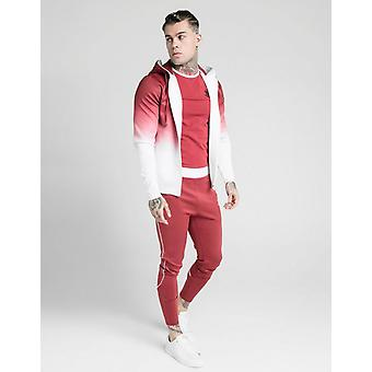 Novos SikSilk Men's Fade Full Zip Hoodie Red