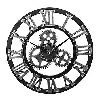 Industrial Gear Wall Clock Decorative Retro Age Style - Room Decoration Art