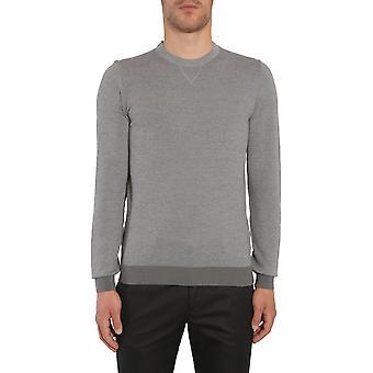 Hugo Boss 5036917710190072070 Men's Grey Wool Sweater