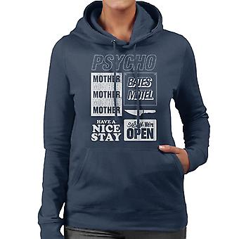 Psycho Classic Quotes Montage Women's Hooded Sweatshirt