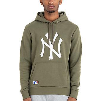 ニューエラ ニューヨーク NY ヤンキース MLB チーム ロゴ プルオーバー スウェットシャツ フーディ - グリーン