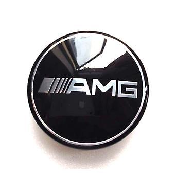 Black Mercedes AMG Car Wheel Center Caps Hub Cover 75mm 1 PCS For A B C E S G CLASS CLA CLS SLK ML AMG