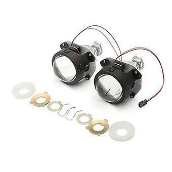 2PCS 3Inch H4 H7 H1 Bi-xenon HID Headlights H/L Beam Projector Lens Retrofit