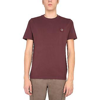 Ma.strum Mas8352m522 Men's Burgundy Cotton T-shirt