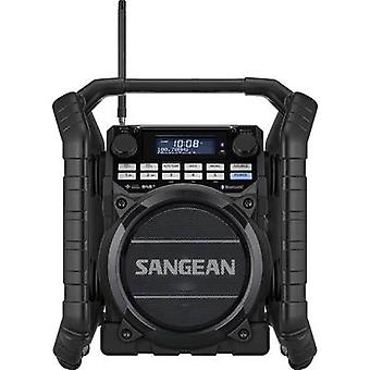 Sangean Utility-40 DBT Workplace radio DAB+, FM AUX, Bluetooth, USB Battery charger, rechargeable, waterproof, shockproof Black