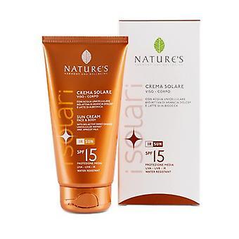 Face and body sun cream SPF15 150 ml of cream