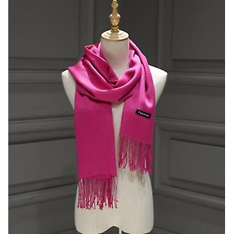 Women Cashmere Scarves With Tassel, Lady Winter Autumn Long Scarf, Keep Warm,
