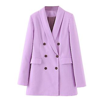 Women Blazer Long Sleeve, Female Office Ladies Autumn Outwear