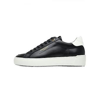 Android Homme Jet Black Leather Suede Trim Zuma Sneakers