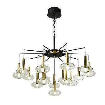Moderne LED Opknoping Hang Hang Hang Zwart, Goud, Warm Wit 3000K