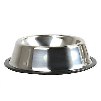 Thickening Stainless Steel Pet Non-slip Feeding Bowl for Dogs and Cats 22cm