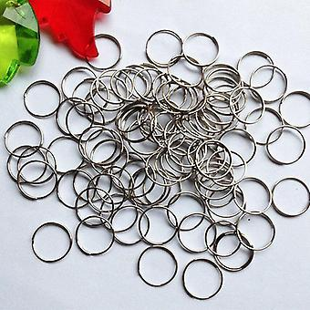 Stainless Steel Rings Crystal Octagon Beads Chain Connector Lamp Accessories