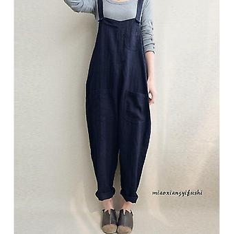 Womens Jumper Overalls, Loose Romper, Oversize Ladies Dungarees, Pockets Tank