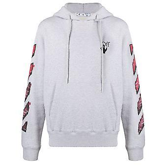 Off-white Ombb034r21fle0030825 Männer's grau Baumwolle Sweatshirt
