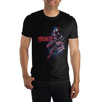 Marvel comics magneto men's black t-shirt tee shirt
