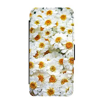 Vita Gerbera Blommor iPhone 12 / iPhone 12 Pro Plånboksfodral