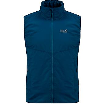 Jack Wolfskin Opouri Peak Vest Zip Up Blue Gilet 1204561 1134