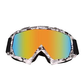 Lunettes anti-UV de neige de poussière pour la course de ski de motocross