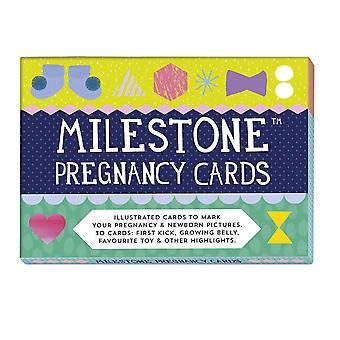 Cartes souvenir de grossesse par jalon - la première année du nouveau-né souvenirs grossesse