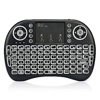 Rii i8s plus kodi xbmc 2.4ghz rf mini wireless keyboard with led backlit touchpad mouse rechargeable