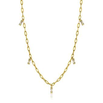 Ania Haie Sterling Silver Shiny Gold Plated Glow Drop Necklace N018-02G