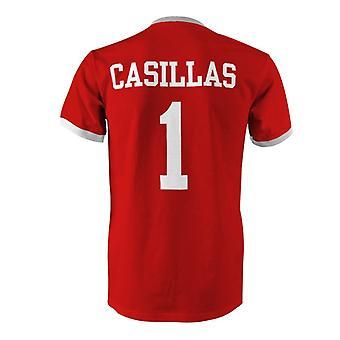 إيكر كاسياس 1 إسبانيا البلد تي شيرت في المسابقة