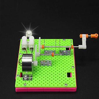 DIY מודל גנרטור בעבודת יד מה שהופך את הילדים התאספו באופן ידני צעצועי חינוך מדעי
