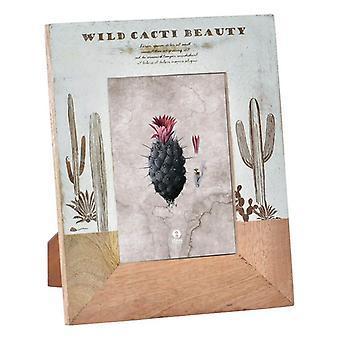 Fotoram Dekodonia Wild Cacti Beauty Mango trä (21 x 26 cm)