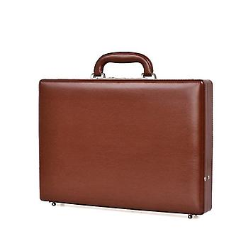 Leather Briefcase, Laptop Case, Password Multifunctional, Toolbox Suitcase