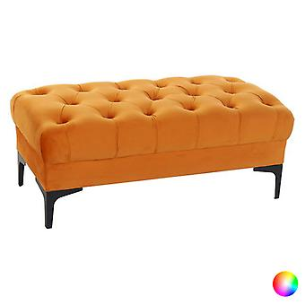 Bench Dekodonia Velvet Polyester Metal (99 x 46 x 40 cm)/Orange
