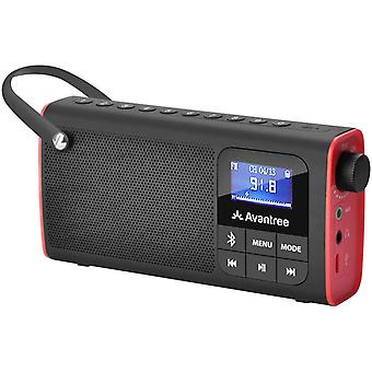 DZK SP850 Portable FM Radio with Bluetooth Speaker and SD Card Player 3-In-1, MP3 Player