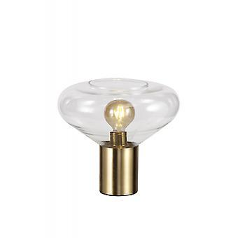 Lámpara De Sobremesa Oblend 1 Bombilla Latón Viejo 28 Cm