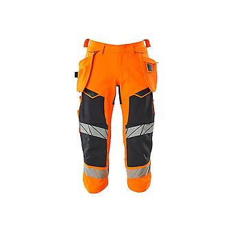 Mascot 3/4 length hi-vis trousers with holster pockets 19049-711