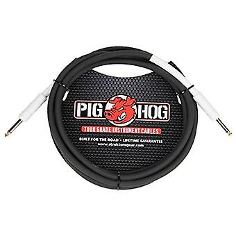 "Pig hog ph1 high performance 8mm 1/4"" guitar instrument cable, 1 foot"
