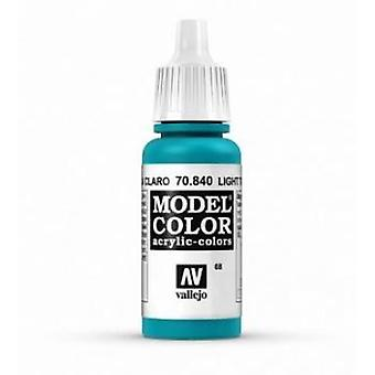 Vallejo Model Color 17ml Acrylic Paint - 840 Light Turquoise