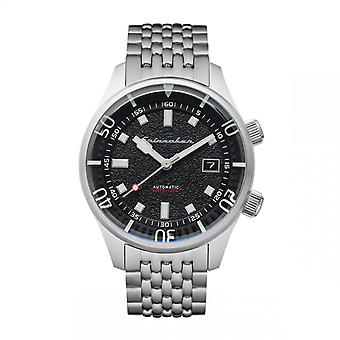 Spinnaker Watch SP-5062-11 - BRADNER Automatic with date round stainless steel case Black dial Men's stainless steel bracelet
