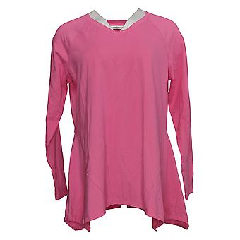 Isaac Mizrahi Live! Women's Top Seamed Knit Pink A390348