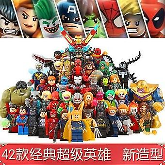 42 stile Super Eroe Building Blocks Bambola Iron Man Mini Figura