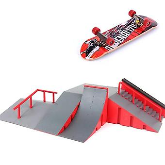 Mini skateboardová toy, Skate Park pre Techdeck Fingerboard Ramps